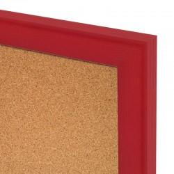 Korková tabuľa v drevenom ráme - červená WOOD (60x40 cm)