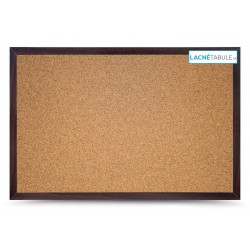 Korková tabuľa v dekoratívnom ráme - mahagónový (90x60 cm)