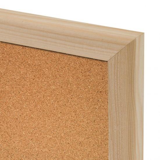 Korková tabuľa v drevenom ráme WOOD (90x60 cm)