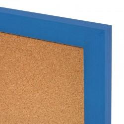 Korková tabuľa v drevenom ráme - modrá WOOD (60x40 cm)