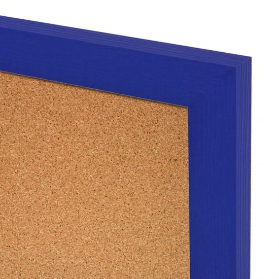 Korková tabuľa v drevenom ráme - námornícka WOOD (60x40 cm)