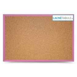 Korková tabuľa v drevenom ráme - ružová WOOD (60x40 cm)