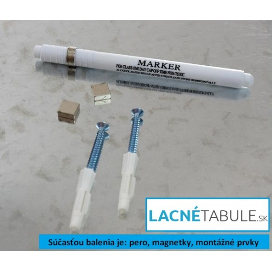 Sklenená magneticko suchostierateľná tabuľa - modrá GLASS (60x40 cm)
