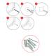 Magnetická tabuľa v hliníkovom ráme s potlačou - linajky 2,5 cm (60x40 cm)