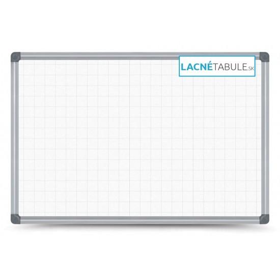 Magnetická tabuľa v hliníkovom ráme s potlačou - mriežky 2,5x2,5 cm (120x90 cm)