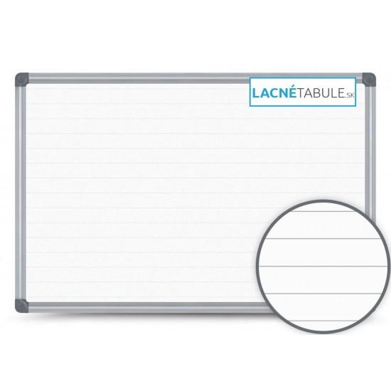 Magnetická tabuľa v hliníkovom ráme s potlačou - linajky 2,5 cm (90x60 cm)