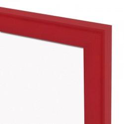 Magnetická tabuľa v drevenom ráme - červená WOOD (60x40 cm)