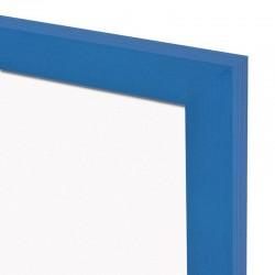 Magnetická tabuľa v drevenom ráme - modrá WOOD (60x40 cm)