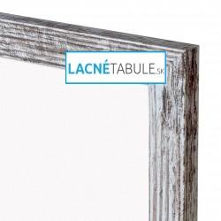 Magnetická tabuľa v dekoratívnom ráme - rustikálny (60x40 cm)