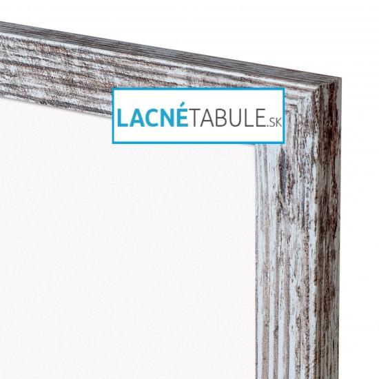 Magnetická tabuľa v dekoratívnom ráme - rustikálny (90x60 cm)