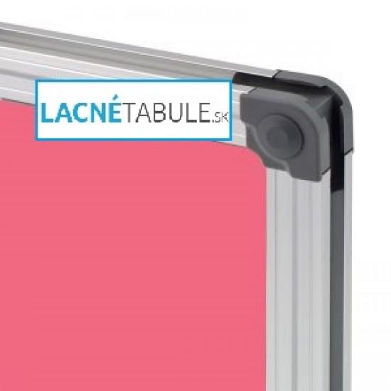 Magnetická tabuľa farebná v hliníkovom ráme - ružová CLASSIC (60x45 cm)