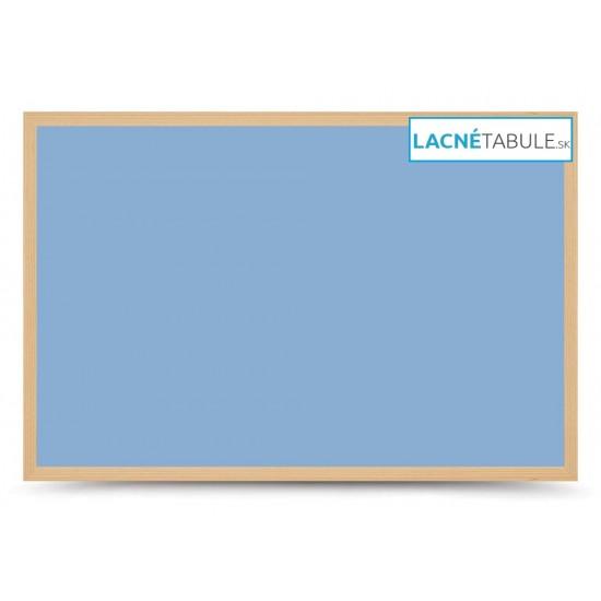 Magnetická tabuľa farebná v drevenom ráme - modrá WOOD (90x60 cm)
