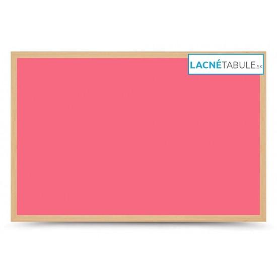 Magnetická tabuľa farebná v drevenom ráme - ružová WOOD (60x40 cm)