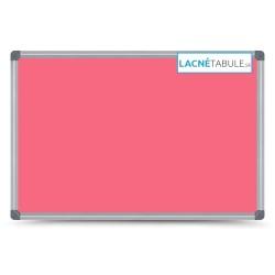 Magnetická tabuľa farebná v hliníkovom ráme - ružová CLASSIC (30x40 cm)