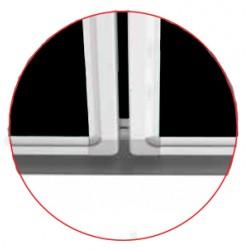 Magnetická školská tabuľa na písanie kriedou - triptych SCHOOL (340x100 cm) MTRC1710ALC