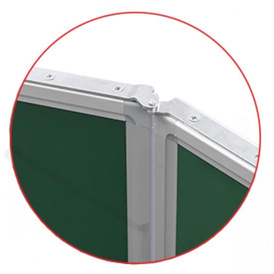 Magnetická školská tabuľa na písanie kriedou - triptych SCHOOL (340x100 cm) MTT1710ALZ